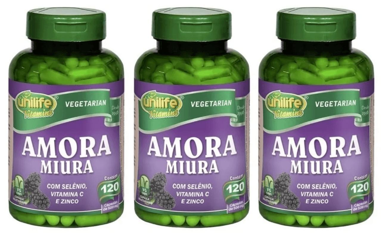 Amora Miúra Unilife 120 Cápsulas Kit 3 Regulador Hormonal