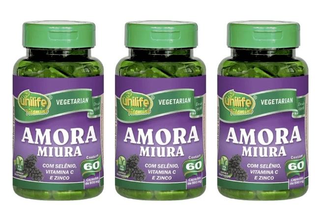 Amora Miúra Unilife 60 Cápsulas Kit 3 Regulador Hormonal