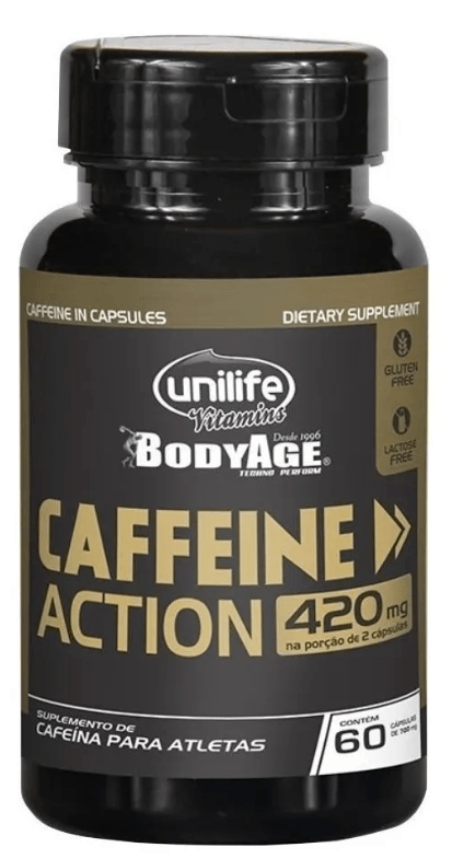 Cafeina Caffeine Action 60 Cápsulas 420mg Unilife