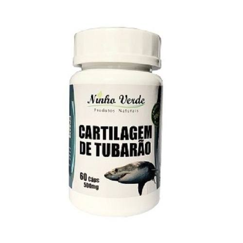 Cartilagem de Tubarão 60 cápsulas 500 mg. Ninho Verde