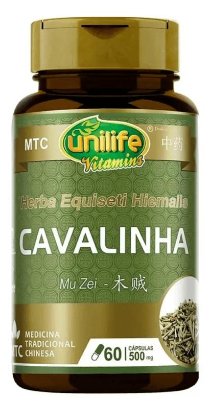 Cavalinha Diurética Mu Zei Mtc (500mg) Unilife - 60 Cápsulas