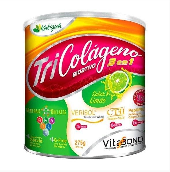 Colágeno Bioativo 3 em 1 - 275 Gramas - Katigua Limão