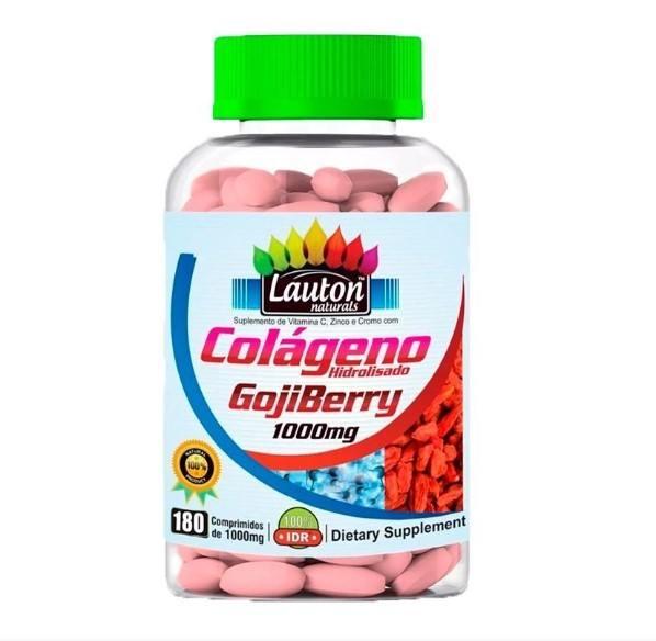 Colágeno com Goji Berry 1000mg - 180 Comprimidos - Lauton