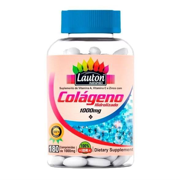 Colágeno Hidrolisado 1000mg - 180 Comprimidos - Lauton