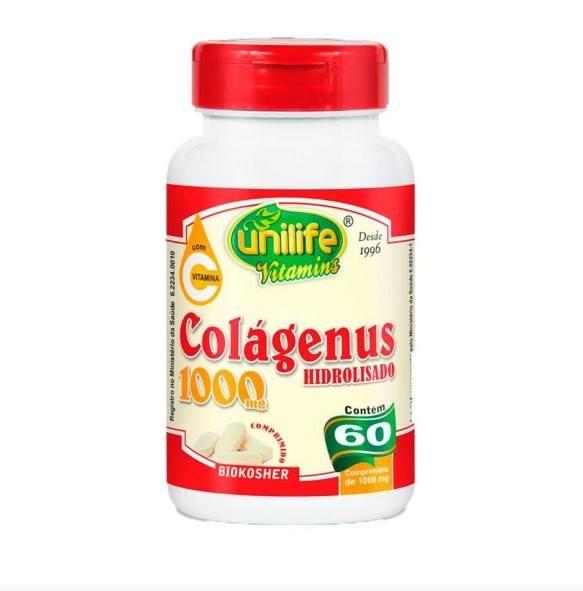 Colágeno Hidrolisado 1000mg - 60 Comprimidos - Unilife