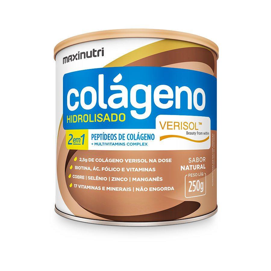 Colágeno Hidrolisado 2 em 1 Verisol (natural) - 250 gramas - Maxinutri