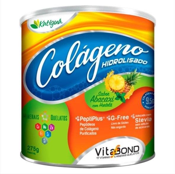Colágeno Hidrolisado - 275 Gramas - Katigua Abacaxi Hortelã