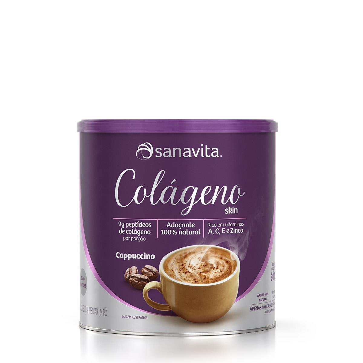 Colágeno Hidrolisado - 300 Gramas - Sanavita Cappuccino