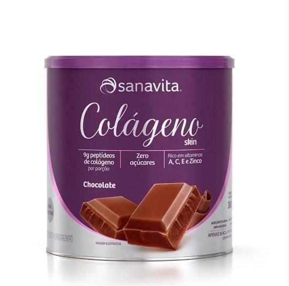 Colágeno Hidrolisado - 300 Gramas - Sanavita Chocolate