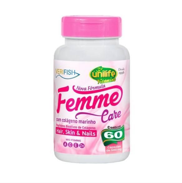 Colágeno Verifish Femme Care - 60 Cápsulas - Unilife