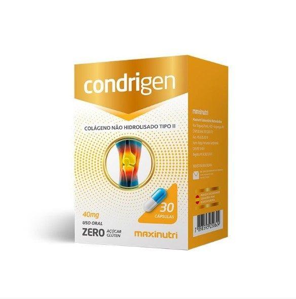 Condrigen Colágeno Tipo II - 30 Cápsulas - Maxinutri