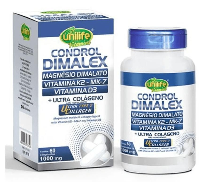 Condrol Dimalatex 60 C (mag Dimalato/vitamina K2/d3) Unilife