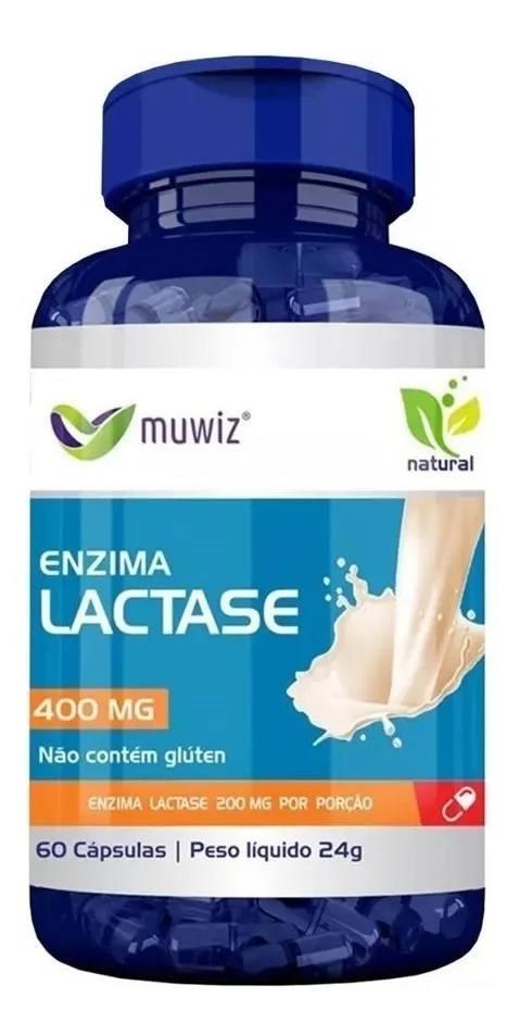 Enzima Lactase (intolerância A Lactose) 60 Cáps 400mg