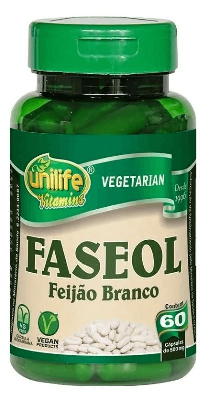 Faseol Faseolamina Feijão Branco 60 Cáps Unilife