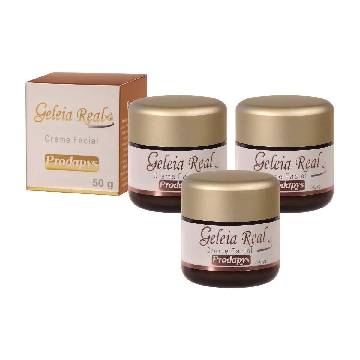 Geleia Real Creme Facial 50g Prodapys Original Kit com 3 Unidades