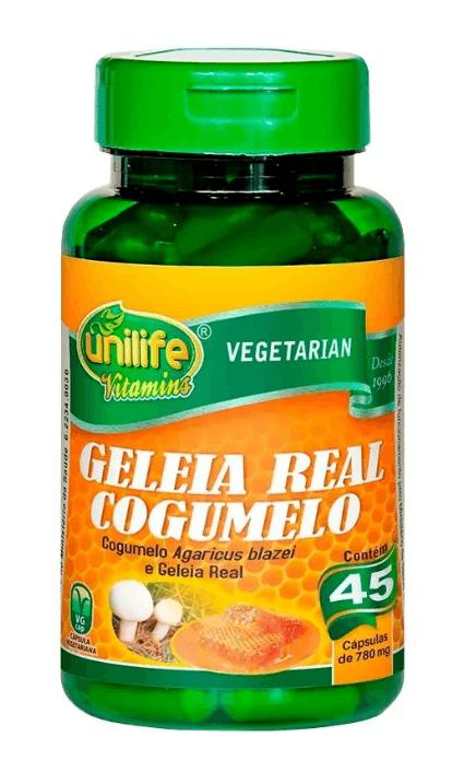 Geleia Real Liofilizada Cogumelo 45 Cáps Unilife