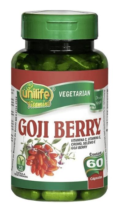 Goji Berry Com Vitaminas 60 Cápsulas 500mg Unilife