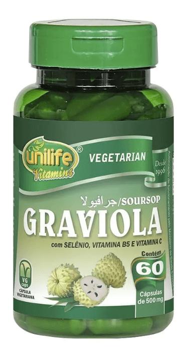 Graviola 60 Cápsulas 500mg Unilife