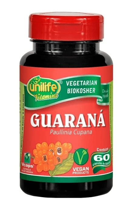 Guaraná Paullinia Cupana 60 Cáps 500mg Unilife