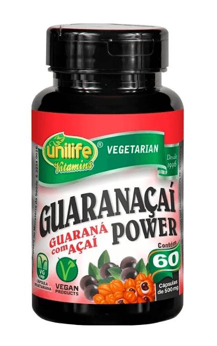 Guaranaçaí Power 60 Cápsulas 500mg Unilife