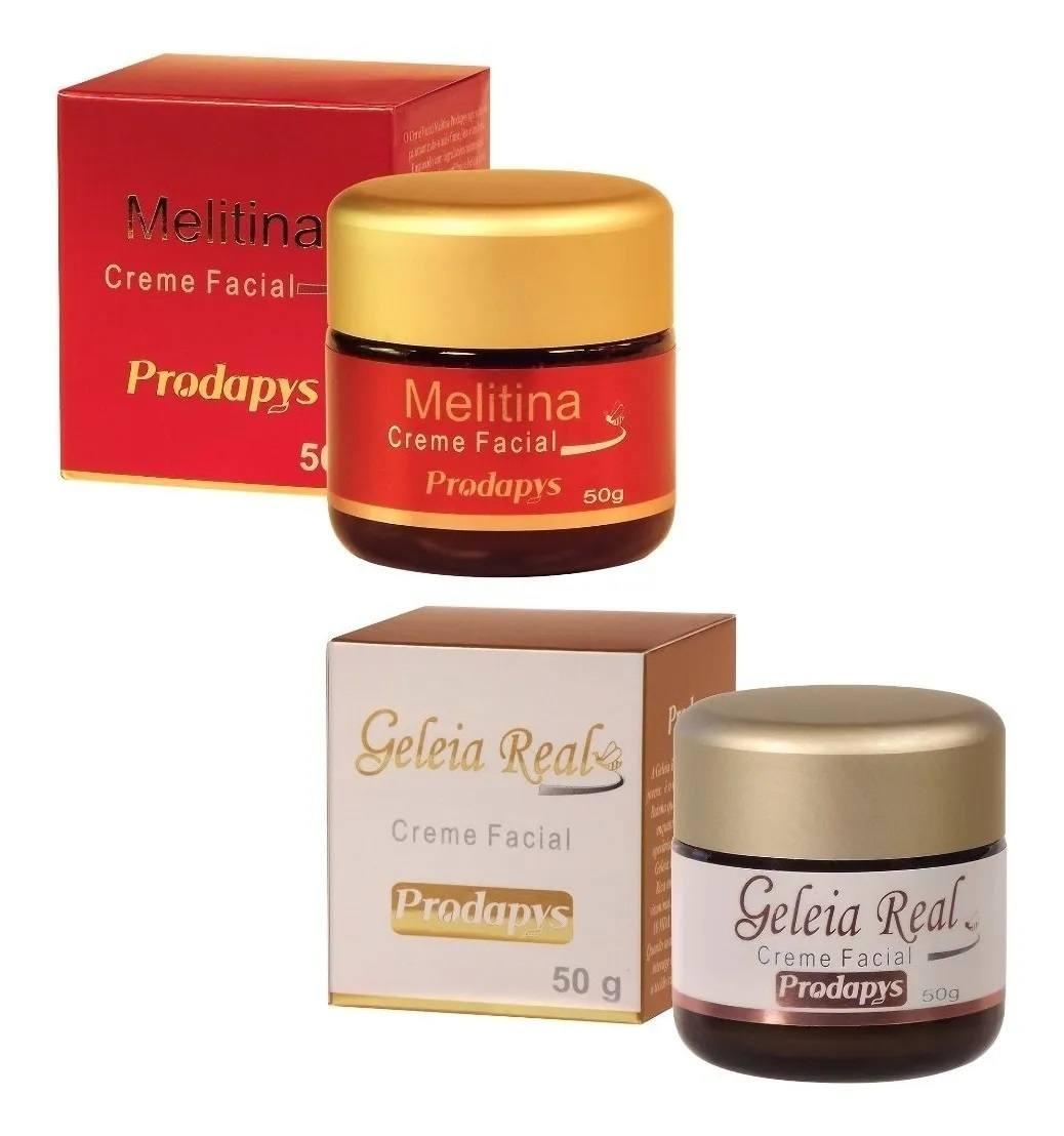 Kit 1 Melitina Creme Facial 50g + 1 Geleia Real Creme Facial 50g