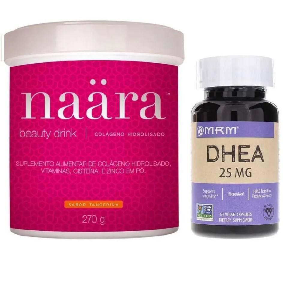 Kit Naara Colágeno Hidrolisado 270 g com DHEA MRM 25 mg