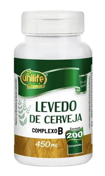 Levedo De Cerveja 200 Comprimidos 450mg Unilife