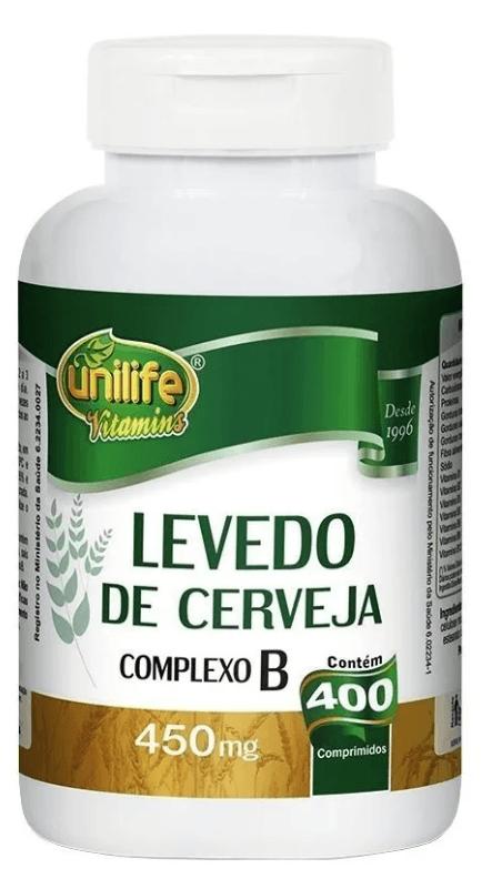 Levedo De Cerveja 400 Comprimidos 450mg Unilife