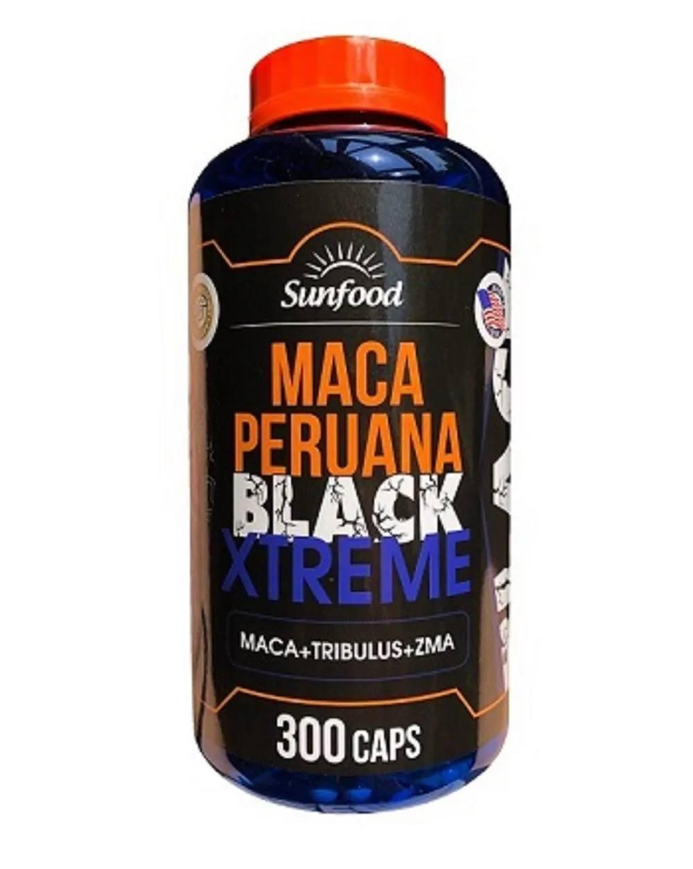 Maca Peruana Black Xtreme 300 cáps. -  SunFood