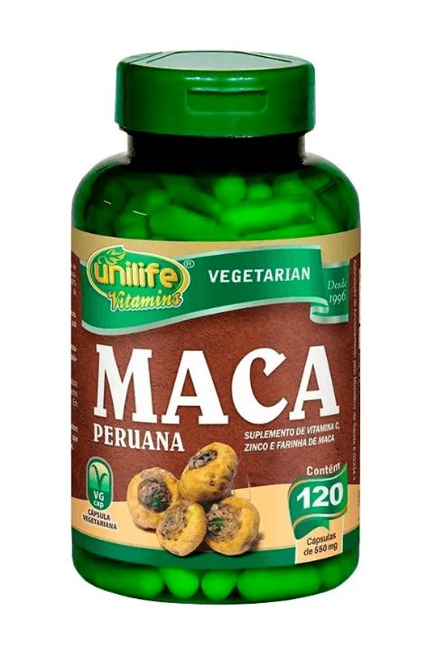 Maca Peruana Com Vitaminas 120 Cápsulas Unilife