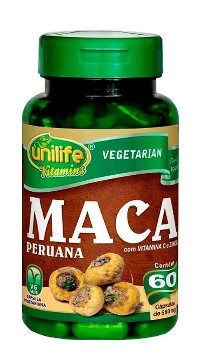 Maca Peruana Com Vitaminas 60 Cápsulas Unilife