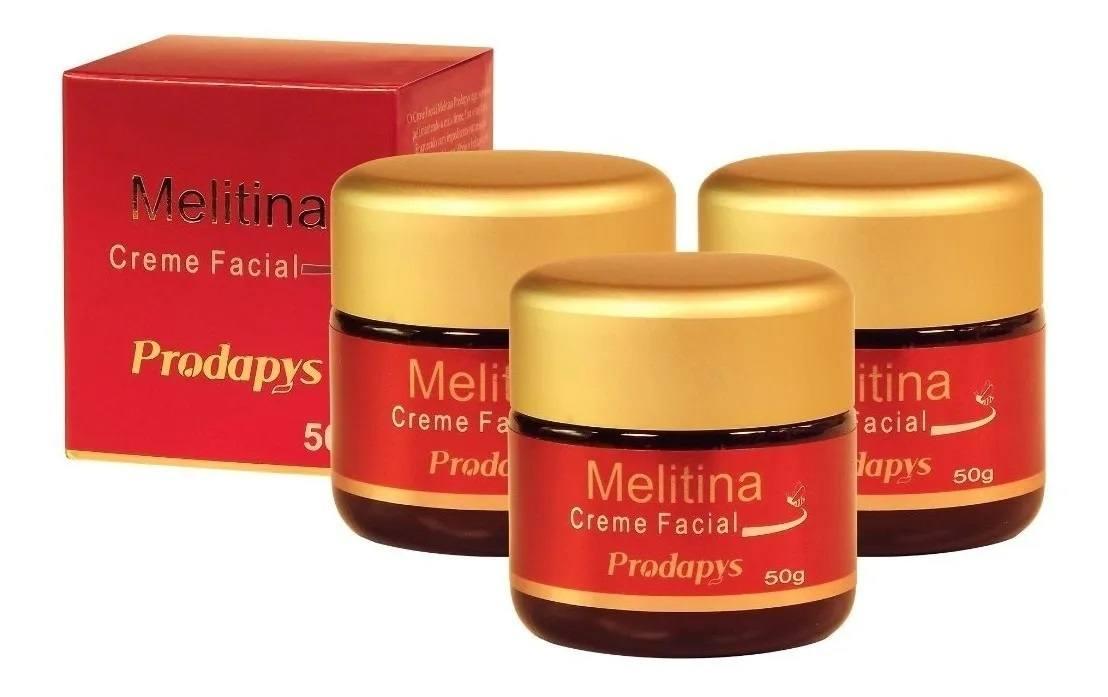 Melitina Creme Facial Prodapys 50g Kit Com 3 Unidades