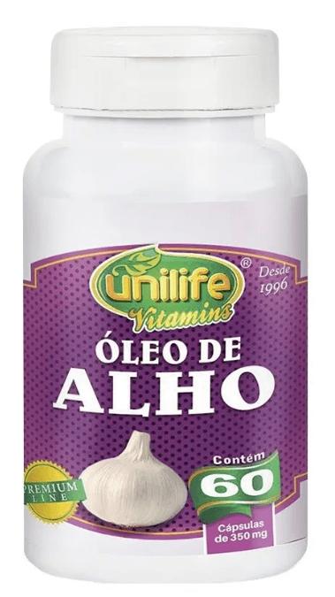 Óleo De Alho 60 Cápsulas 350mg Unilife
