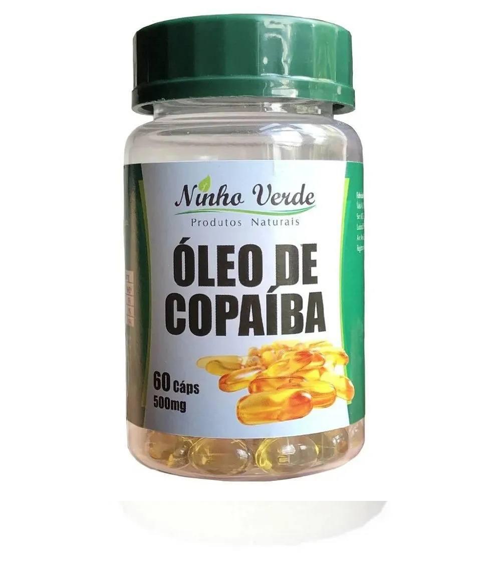 Óleo de Copaíba 60 cáps. 500 mg Ninho Verde