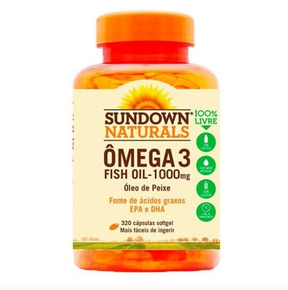 Ômega 3 Fish Oil - 320 Cápsulas - Sundown