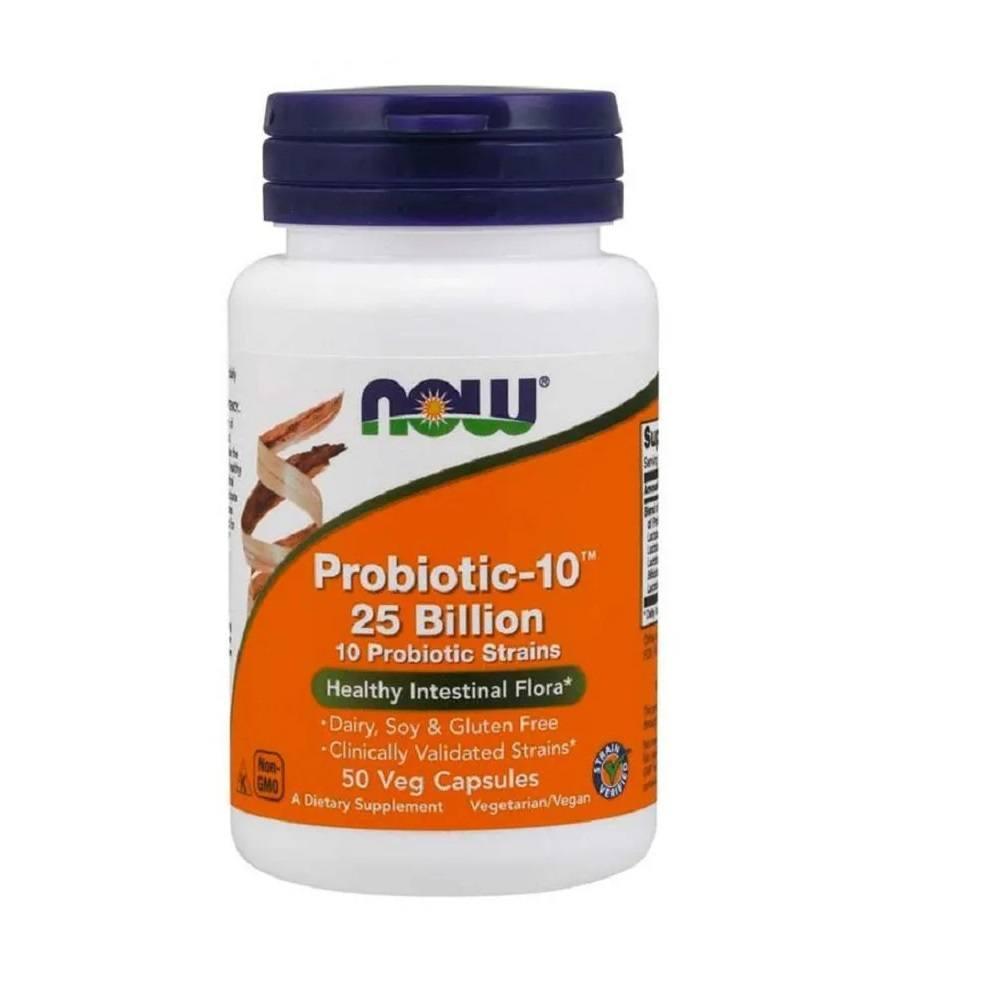 Probiótico 10-25 Bilhões 50 cápsulas – Now Foods