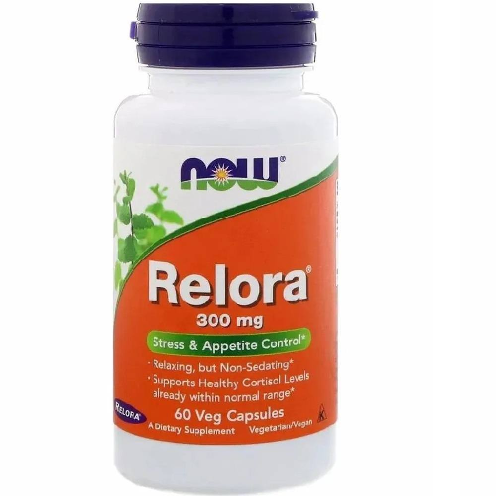 Relora 300mg Now 60 Cápsulas Vegetarianas Now Foods
