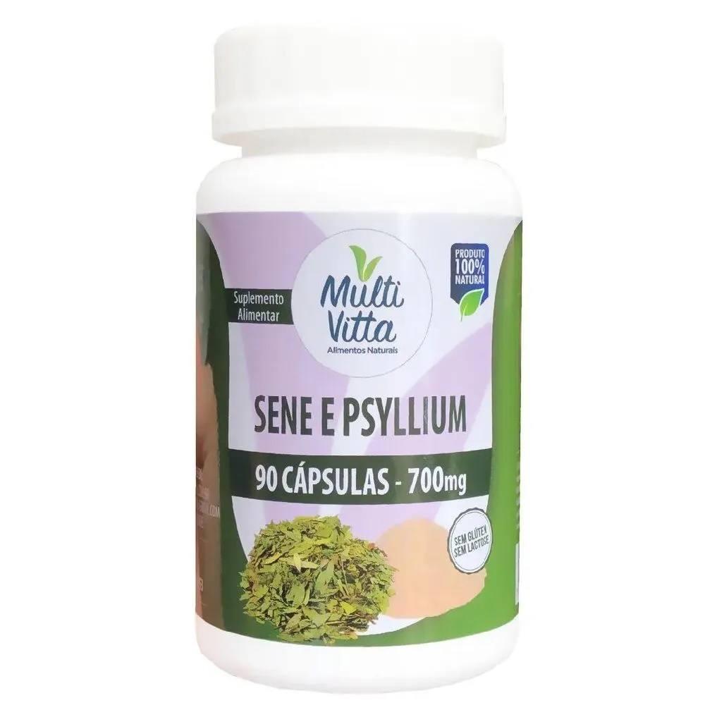 Sene e Psyllium 90 cápsulas Multi Vitta