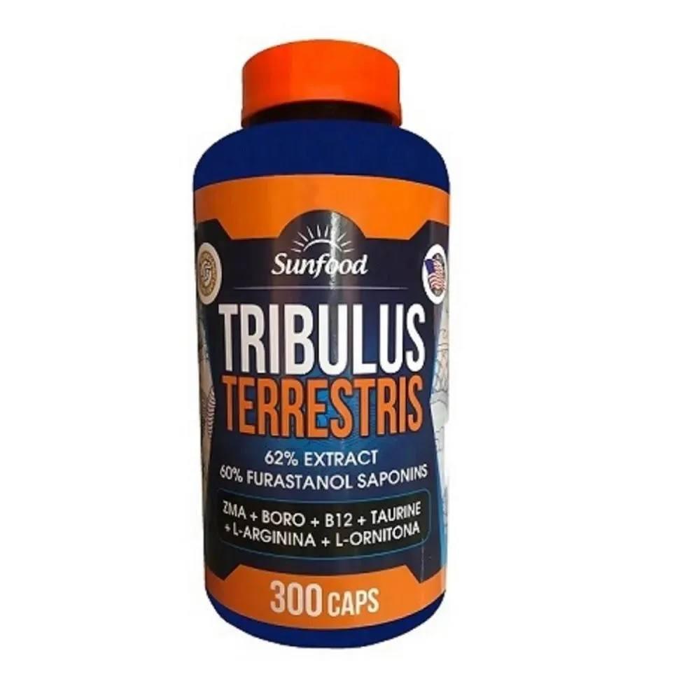 Tribulus Terrestris, ZMA, Boro, B12, Taurina, L-Arginina , L-Ornitina- 300 cáps. – SunFood