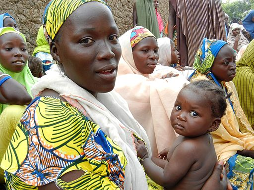 Women attending a health clinic in Nigeria, courtesy of Wikipedia.