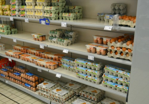 Eggs for sale in a French supermarket. Photo by Anna Migeon.