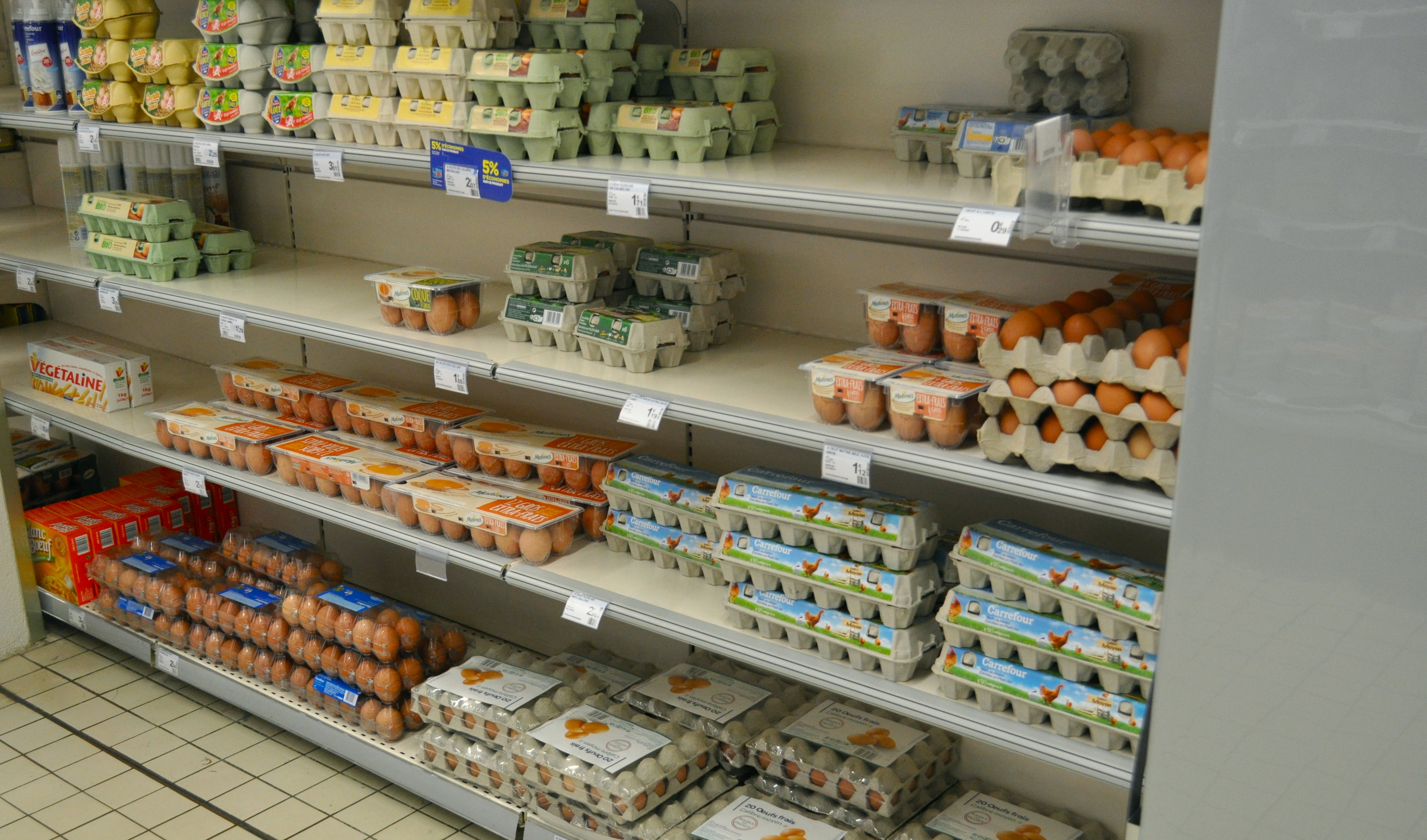 egs in a French supermarket | Natural Womanhood