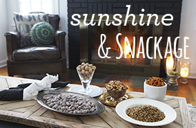 Santa Fe Corn Stix, Sweet Blueberry Almonds, Roasted Sea Salt Chickpeas, Honey Macadamia Pretzel Pops, Southern BBQ Sunflower Kernels
