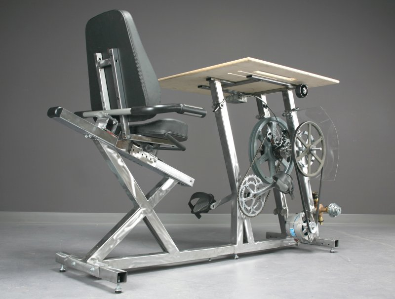 Generate Power For Your Computer with a Bicycle Desk