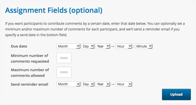setting assignment fields