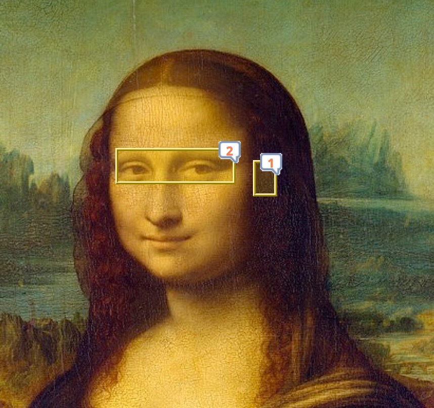 Mona Lisa example of image areas