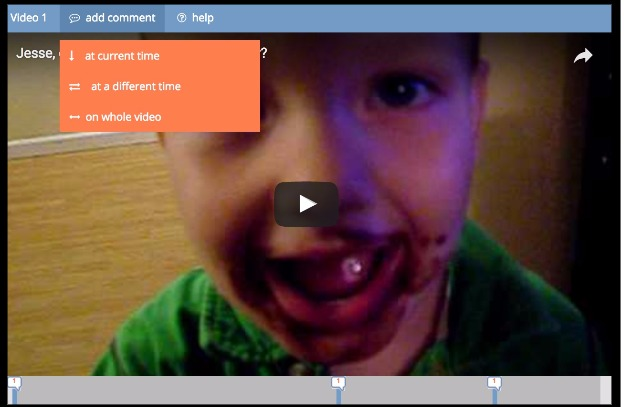 Enhanced video commenting interface
