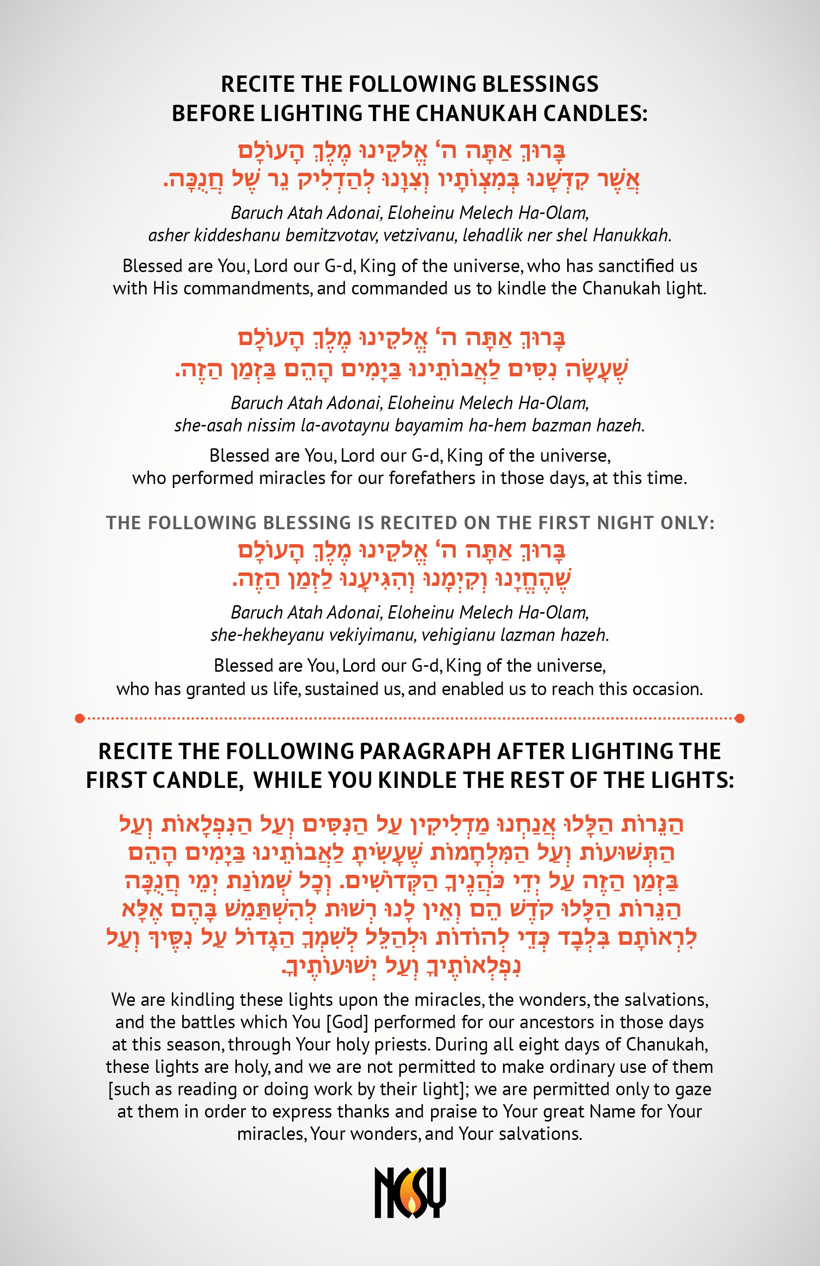Remarkable image in hanukkah prayer printable