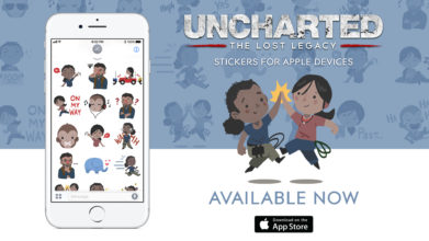 Uncharted: The Lost Legacy Stickers for Apple Devices Now Available