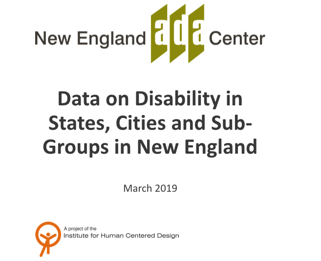 Data on Disabilities in States, Cities and Sub-Groups cover